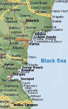 Map of Bulgaria Black Sea coast and resorts Beach Holidays in